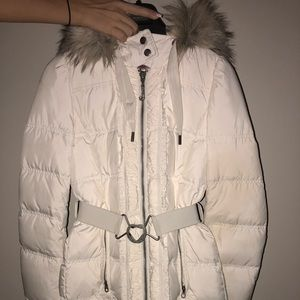 Juicy Couture White Long Winter Coat